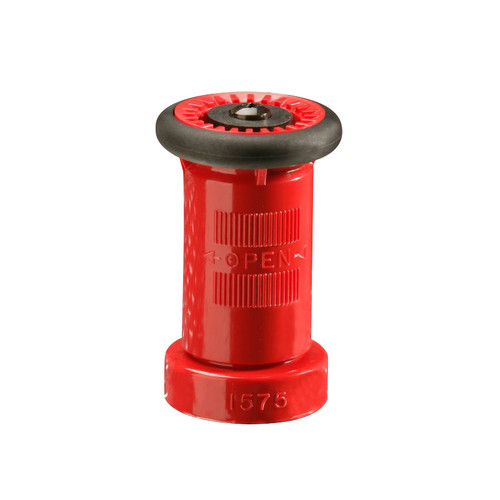 United Fire Safety 1 1/2 in. NYFD Combination Stream Fog Shut-Off Nozzle