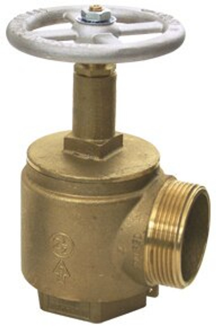 Dixon 2 1/2 in. NPT x 2 1/2 in. NH (NST) Brass Angle Hose Valve