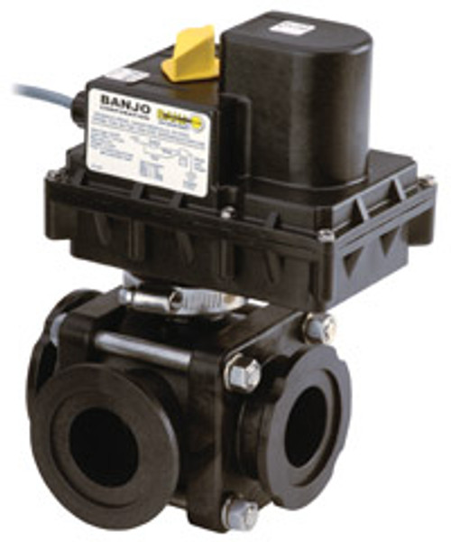 Banjo 1 in. Full Port ON/OFF Electric Ball Valves w/ 3/4 to 1 1/4 Second Response Time