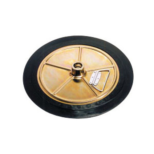 Liquidynamics 400 Lb Drum Follower Plate - I.D. 21.3 in. to 22.8 in. - 11395 1.42 in. Dia. Tube