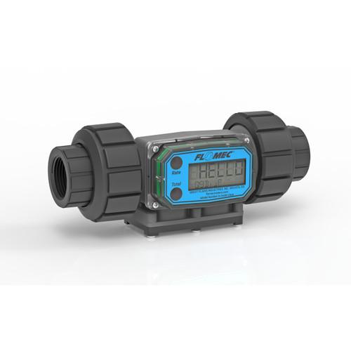 GPI G2 Series 1/2 in. NPT Industrial PVDF Turbine Meter - Gallons
