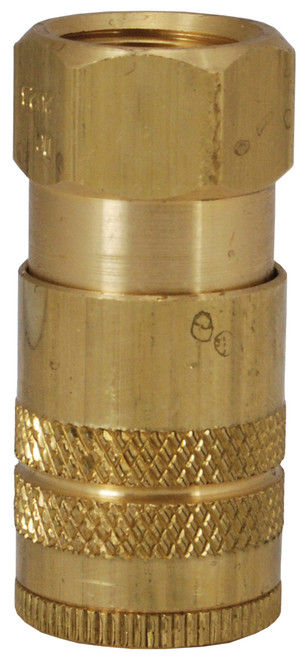 Dixon Air Chief Brass Industrial Quick-Connect Coupler 1/4 in. Female NPT x 1/4 in. Body