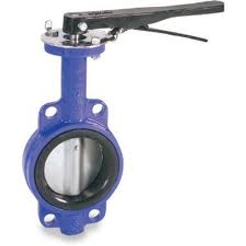 Smith Cooper 0160 Series 2 in. Cast Iron Lever Operated Butterfly Valve w/Nitrile Rubber Seals, Nickle Plated Iron Disc, Wafer Style