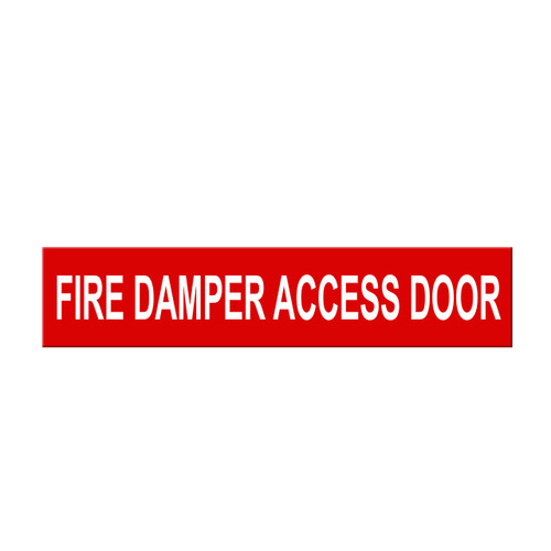 """Marking Services Self-Adhesive Pipe Markers - Legend """"Fire Damper Access Door"""""""