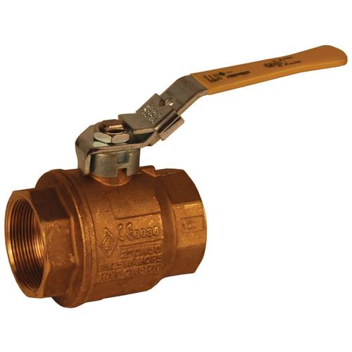 Dixon Imported 1 1/4 in. NPT Brass Ball Valve w/ Locking Handle - Full Port