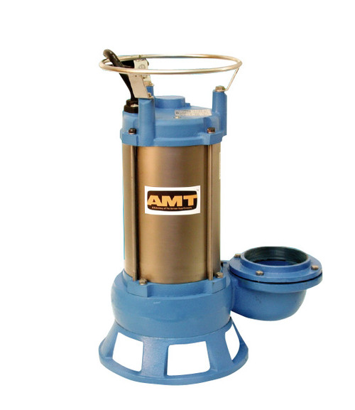 AMT Submersible Shredder Sewage Pump - 240 - 9 - 230 - 3 - 4 in.