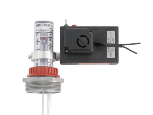 Krueger Sentry Gauge Direct Mount Gauge Alarm w/ Dry Contacts & Flashing Light