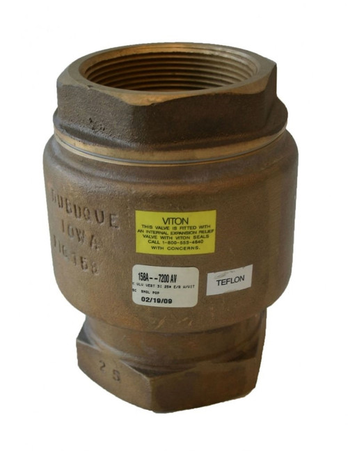 Morrison Bros. 158A Series 2 in. NPT Brass Vertical Check and Back Pressure Valve