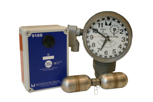 Morrison Bros. 918 Series 2 in. Female NPT Clock Gauge Alarm w/ Standard Float - Feet & Inches