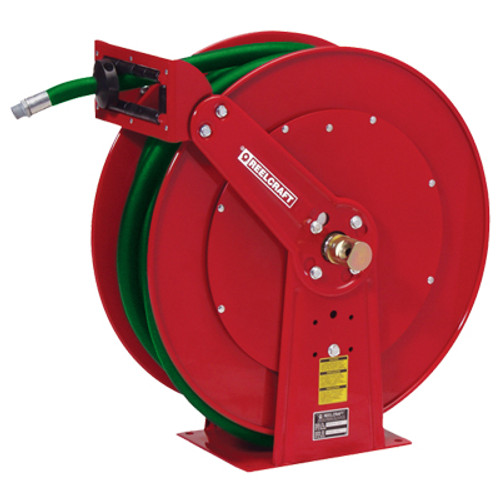 Reelcraft Dual Pedestal Fuel Hose Reels - Reel With 1 in. x 50 ft. BC Marina Hose