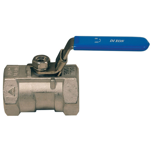 Dixon 1 in. NPT Stainless Steel Ball Valve w/ Locking Handle - Reduced Port