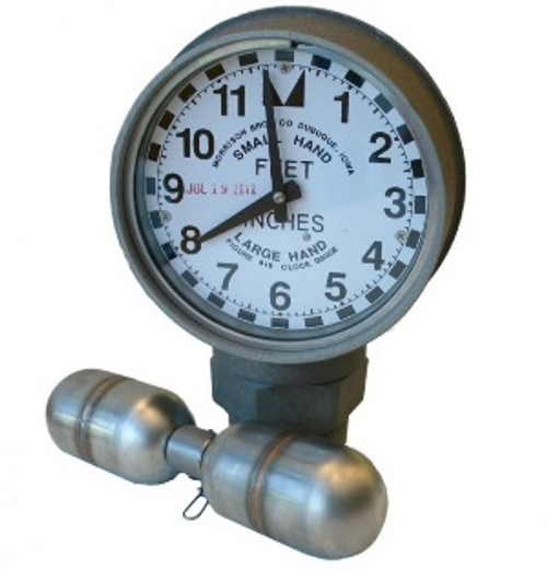 Morrison Bros. 2 in. Female NPT 818 Clock Gauge w/ Standard Float - Feet & Inches