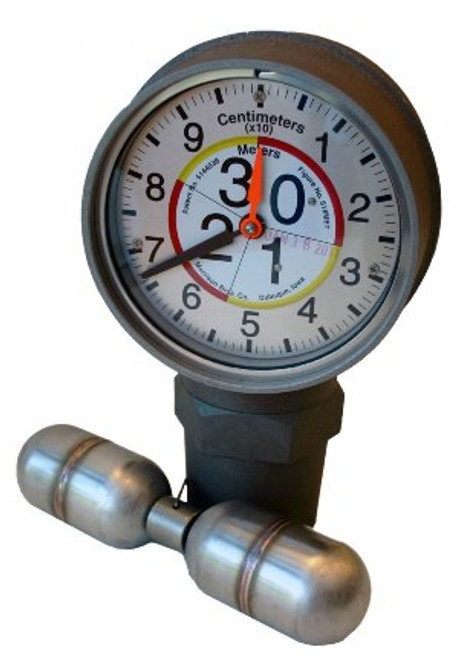 Morrison Bros. 2 in. Male NPT 818 Clock Gauge w/ Standard Float - Meters & Centimeters