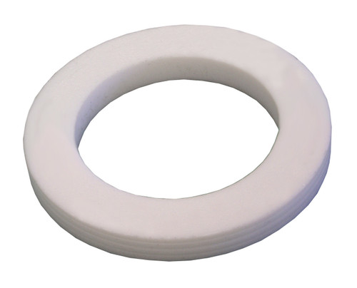 Dixon 1 1/2 in. PTFE (TFE) Cam & Groove Accordion Gasket (White)