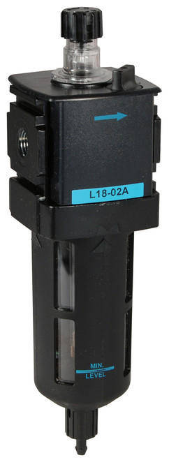 Dixon Wilkerson 1/4 in. L18 EconOmist Compact lubricator with Transparent Bowl