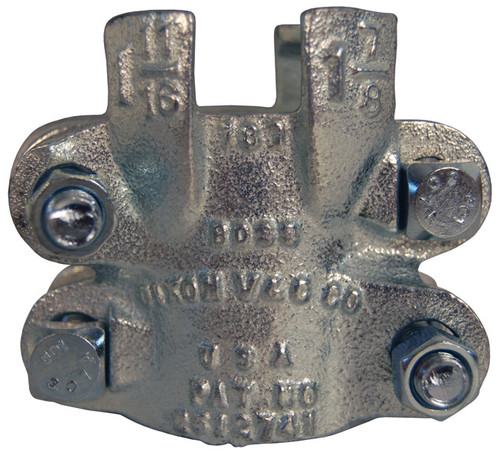 Dixon Boss 206 Clamp 1 1/4 in. Hose ID Zinc Plated Iron 4-Bolt and 4 Finger
