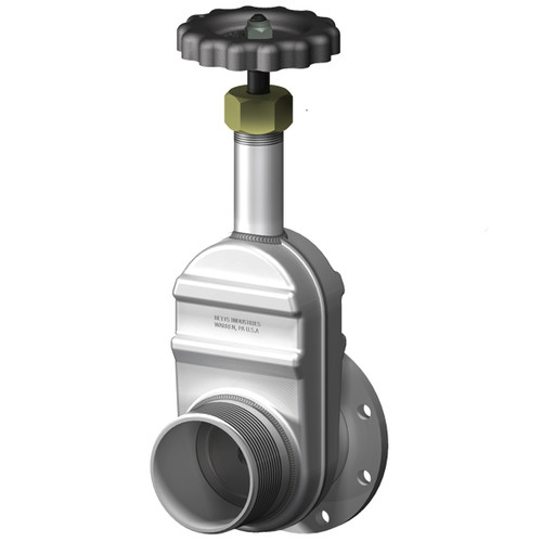 Betts 3 in. Manual Gate Valve - TTMA Flanged x Male NPT Thread -  Aluminum Body, Stainless Stem