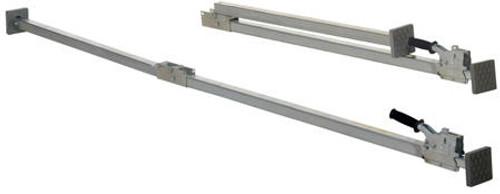 Vestil Two Piece Steel Folding Galvanized Cargo Bar - 88 to 116in.