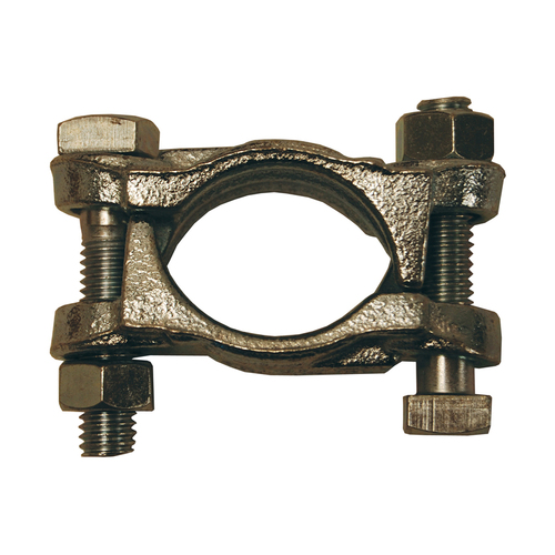 Dixon Plated Iron Double Bolt Clamps w/out Saddles from 1 3/4 in. - 2 3/64 in. Hose OD