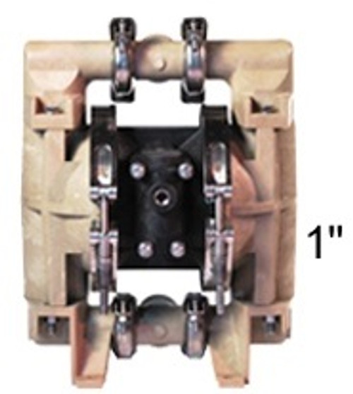 ALL-FLO 1 in. Polypropylene Air Diaphragm Pump w/ Buna Diaphragms, Balls & Seats
