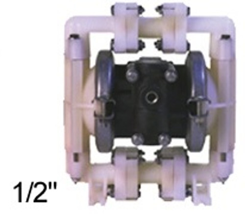 ALL-FLO 1/2 in. Polypropylene Air Diaphragm Pump w/ Buna Diaphragms, Balls & Seats