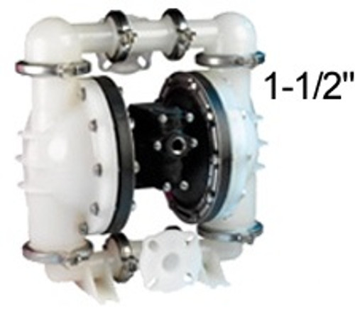 ALL-FLO 1 1/2 in. Polypropylene Air Diaphragm Pump w/ Buna Diaphragms, Balls & Seats