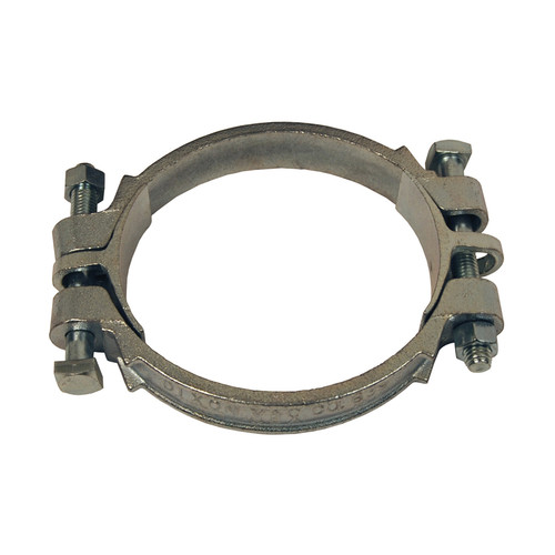 Dixon Plated Iron Double Bolt Clamps w/ Saddles - 13-3/16 in. to 15 in. Hose OD