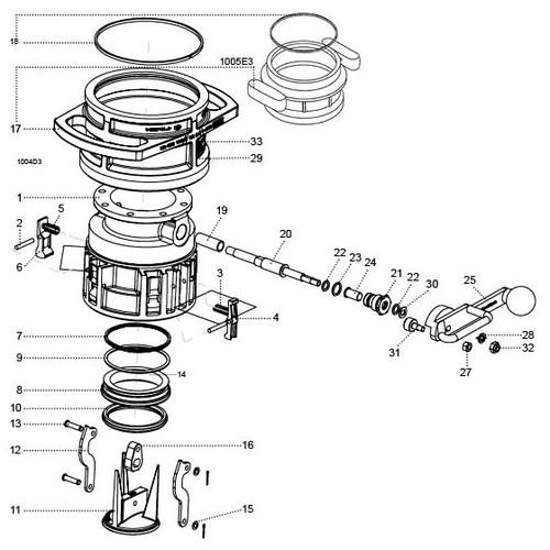 OPW 1004D3 Coupler Parts - Cylinder O-Ring GFLT Viton