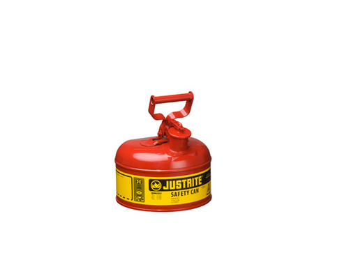 Justrite 7110100 Type I 1 Gallon Safety Gas Can (Red)