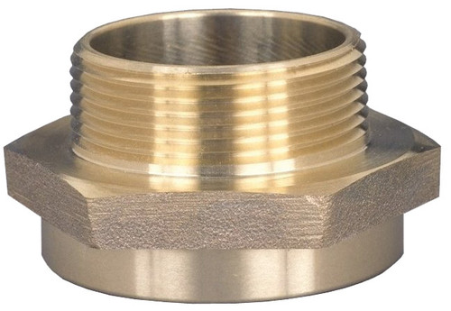 Dixon 1 1/2 in. NH (FNST) x 1 1/2 in. Brass Female to Male Hex Nipples (Special City Threads)