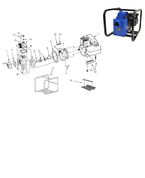 """AMT Impeller (3/4"""" Shaft) for 327 & 339 Series Solids Handling Pumps - Impeller 3/4"""" Shaft - 5"""