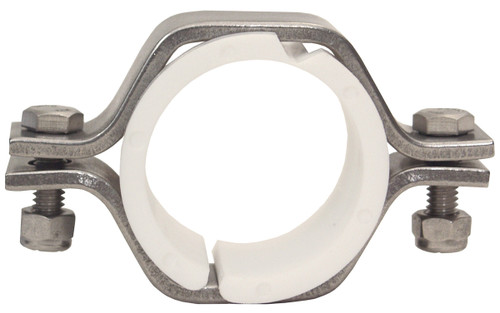 Dixon Sanitary B24PV Series 2 1/2 in. Pipe Size Hex Hangers w/ Polyproylene Sleeves