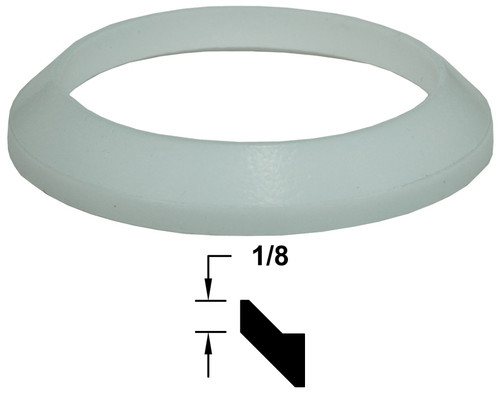 Dixon Sanitary Silicone Bevel Seat Gaskets (White)