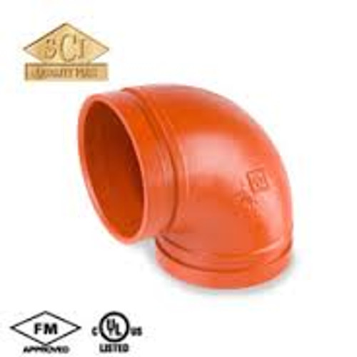 Smith Cooper 2 1/2 in. Grooved 90° Elbow - Short Radius