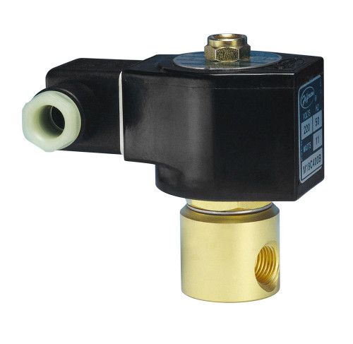 Jefferson Valves 1327 Series 2-Way Brass Explosion Proof Solenoid Valves - Normally Closed - 24 VDC 19W - 2.25 - 0.15 - 0/300
