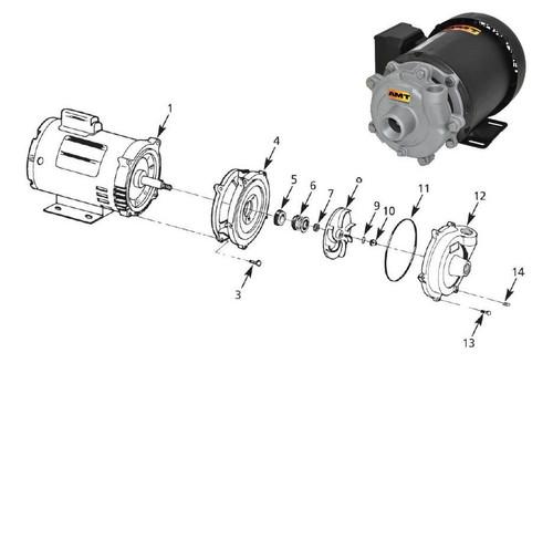 AMT/Gorman Rupp 3680 & 3700 Series Replacement Pump Shaft Seal, Buna-N - #5 & #6