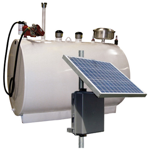 Double Wall 300 Gallon Skid Tank w/ 15 GPM Solar Powered Pump Package