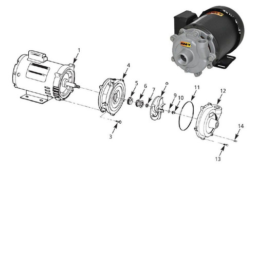 AMT/Gorman Rupp 3680 & 3700 Series Pump Replacement O-Ring Seal Kit, Buna-N - #9 & #11