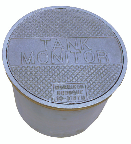"""Morrison Bros. 18 in. 318 Series Manhole w/ """"TANK MONITOR"""" on Cover & 12 in. Skirt"""