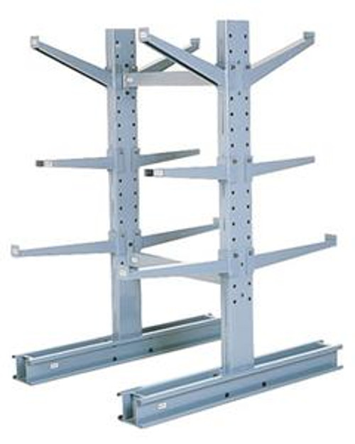 MECO Medium Duty Cantilever Rack Double Sided, 10 ft. H  7,600 lbs. Cap., 78 in. L Base w/36 in. L Arms