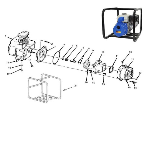 AMT/Gorman Rupp 316 Series Solids Handling Pump Parts - Impeller 5HP - 9