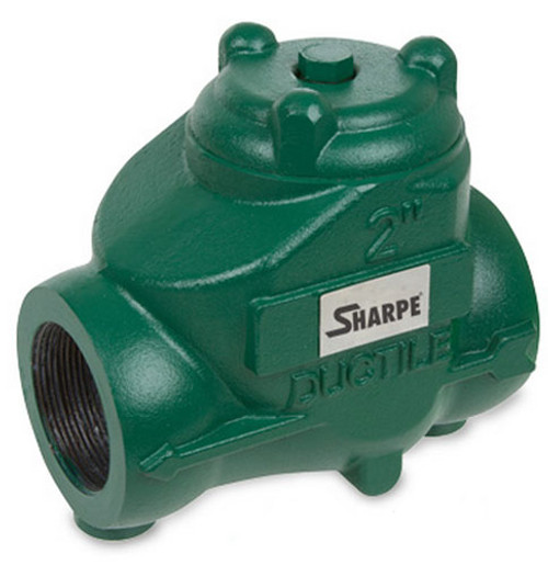 Sharpe 2 in. NPT Threaded Ductile Iron Oil Patch Swing Check Valve - 300 PSI