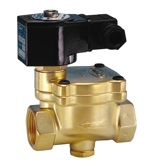 Jefferson Valves 1342 Series 2-Way Brass Explosion Proof Solenoid Valves - Normally Closed - 1 in. - 120/60 VAC 13W - 13 - 7/225