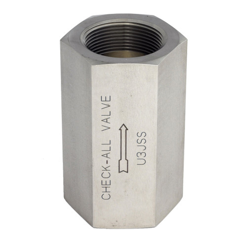 Check-All Valve 1/2 in. NPT Stainless Steel Threaded Low-Pressure Check Valves