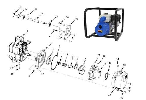 AMT/Gorman Rupp 316F Series Dredging Pump Parts - Flapper Valve - Buna-N - 12