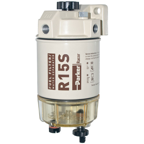 Racor 200 Series 15 GPH Low Flow Diesel Fuel Filter/Water Separator 215 Filter Assembly - 2 Micron - 6 Qty