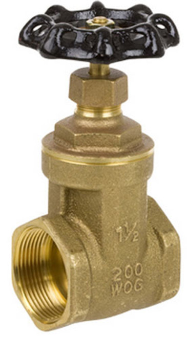 Smith Cooper 8501L Series 1 1/2 in. Lead-Free Brass 200 WOG Full-Port Gate Valve - Threaded