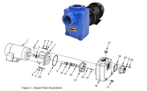 "AMT/Gorman Rupp 287 Series 3"" Centrifugal Pump Replacement Shaft Seal - Buna-N - #10, 11"