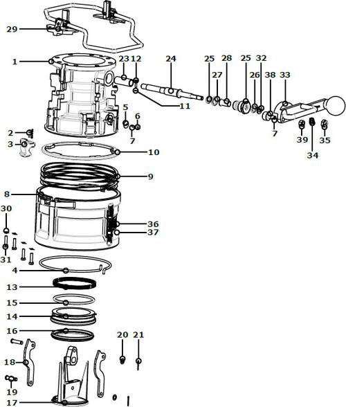 OPW 1004D4 Coupler Parts - M6 X 1.0mm by 30mm Hex Cap Screw