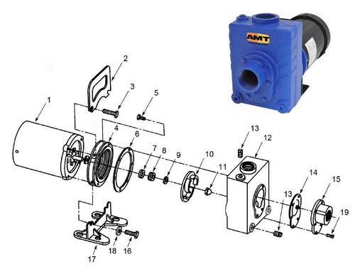 "AMT/Gorman Rupp 276 Series 2"" Centrifugal Pump Parts - Impeller 2HP ODP & 3HP TEFC 1PH - 10"